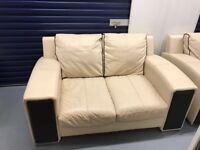 Sofa 3 seater, 2 seater , armchair and pouffet