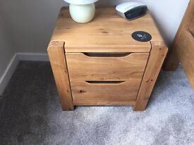 Solid Oak bedroom furniture