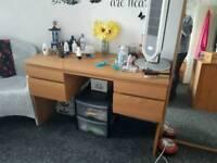 malm oak dressing table