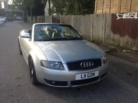 AUDI A4 CABRIOLET/CONVERTIBLE 3.0 V6 AUTOMATIC, SILVER, LEATHER, 12 MONTHS MOT