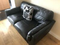 Small next leather sofa