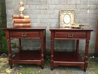VINTAGE BEDSIDE TABLES FREE DELIVERY WELL MADE 🇬🇧