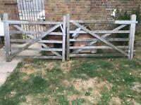 Pair of 5 bar gates