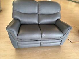 2 seater grey leather sofa £499