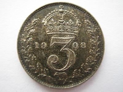 1908 silver Threepence NEF.