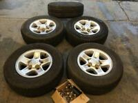 Land rover boost alloy wheels & tyres