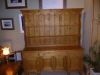 Old Pine Dresser - 40 years old made from reconditioned pine. H:190cms. W:46cms. L:170cms