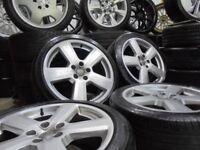 18inch GENUINE silver RS6 S LINE alloys wheels rotor audi a4 a6 a3 5x112 golf vw caddy t4 TT