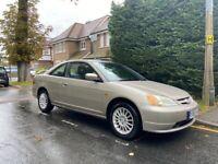 Honda Civic Coupe VTEC, mot and service history, ulez exempt