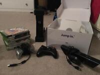 XBOX 360 250GB w/ Kinect & games