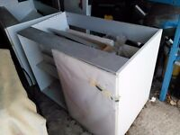 FREE Paula Rosa Kitchen units, white, not stored well but intact, must go as one lot