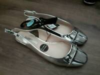 Brand new with tags silver sling backs size 6