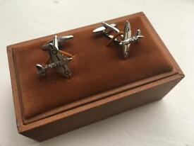 Pair of aeroplane / spitfire cuff links