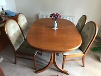 Dining room table and chairs extendable