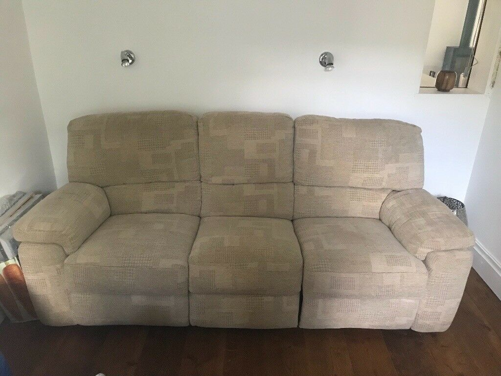 Electric G Plan Malvern 3 Seater Fabric Recliner Sofa