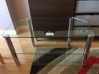 Cut glass TV stand