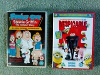 Set of two DVDs - Despicable + Family Guy (Cartoons)