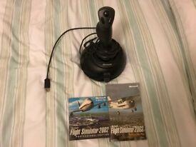 Microsoft Sidewinder Joystick plus Flight Simulator 2002 Pro CD-ROM with game manual