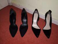 Reiss heels black size 4