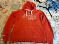 Ladies Superdry hooded top size xl
