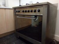 Cooker with 5 burner Gas Hob & Electric oven for sale - Indesit Brand