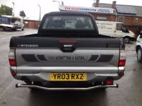 Mitsubishi l200 side steps/running boards and rear chrome bumper for sale