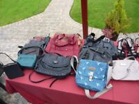 WOMEN'S HANDBAGS, ABOUT A DOZEN TO CHOOSE FROM.