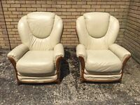 Leather Sofa (Set of Two)