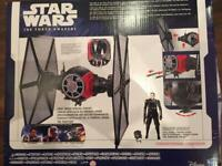 Brand New Star Wars tie fighter vehicle playset & exclusive pilot figure toy collectible P&P
