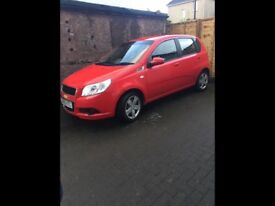 Chevrolet Aveo LS 1.2 mileage 48000 .MOT July 2018