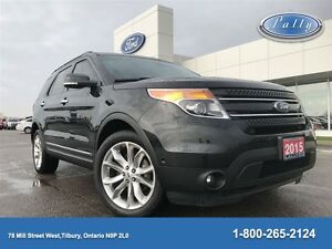 2015 Ford Explorer Limited, Moonroof, Leather, One Owner!