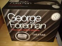 George Foreman Lean Mean Grilling Machine 3 portion size.