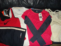 BNWT bundle of women sport clothes - 4 tops (size XS/8) + shorts size 10
