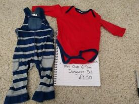 Boys 6-9 months dungarees bundle - Mini Club, Blue Zoo and F&F
