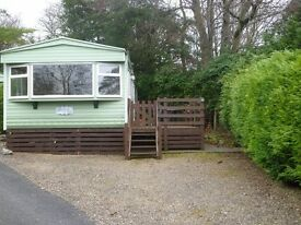 Great 2 Bedroom starter caravan with wooden decking – Fell End Holiday Park