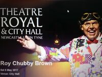 ROY CHUBBY BROWN TICKETS x 2