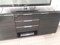 Hygena high gloss black sideboard