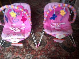2x baby bouncers almost new condition