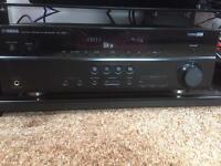 Yamaha RX-V667 surround sound amplifier.