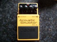 Boss AC-2 Acoustic Simulator effects pedal