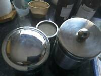 STAINLESS STEEL KITCHEN STORAGE CANISTERS