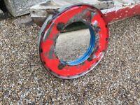 Round Retro Metal Mirror (Red)