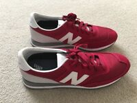 Women New Balance Trainers, Red/Grey, Size UK7