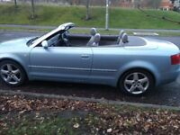 AUDI A4 1.8T SPORT CONVERTIBLE MOT 3/19 PART SERVICE HISTORY ELECTRC ROOF 1/2 LEATHER INTERIOR