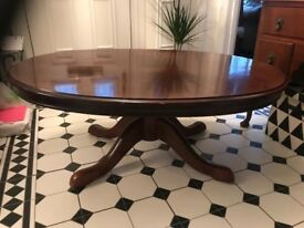 Large oval solid coffee table