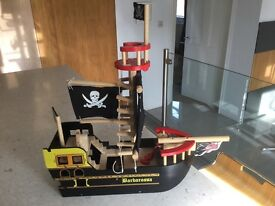 Great Little Trading Company Wooden Pirate Ship - great christmas present!
