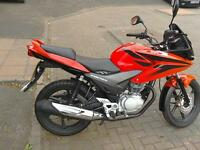 Honda CBF125, superb condition, full mot.