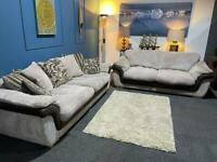 Cream cord suite 4 seater sofa and sofa bed