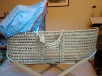 Mothercare Moses basket with mattress and bumper