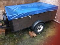 Camping equipment with trailer